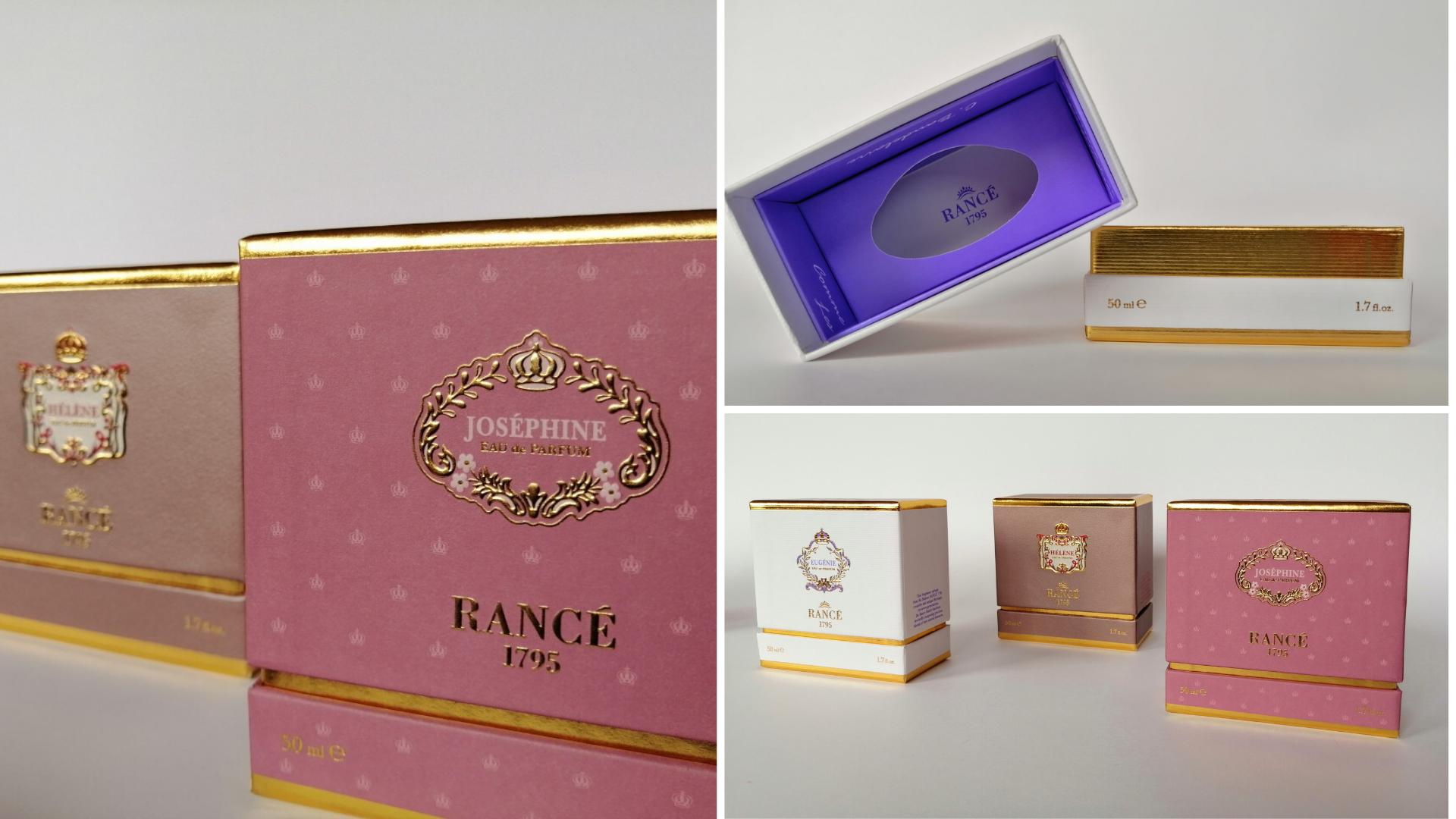 Élégance et style du marquage à chaud: le packaging de la Tradition Unique et de l'Excellence Contemporaine de la Maison RANCÉ1795